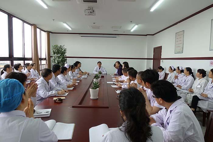 启东市中医院迎接江苏省大型中医医院巡查